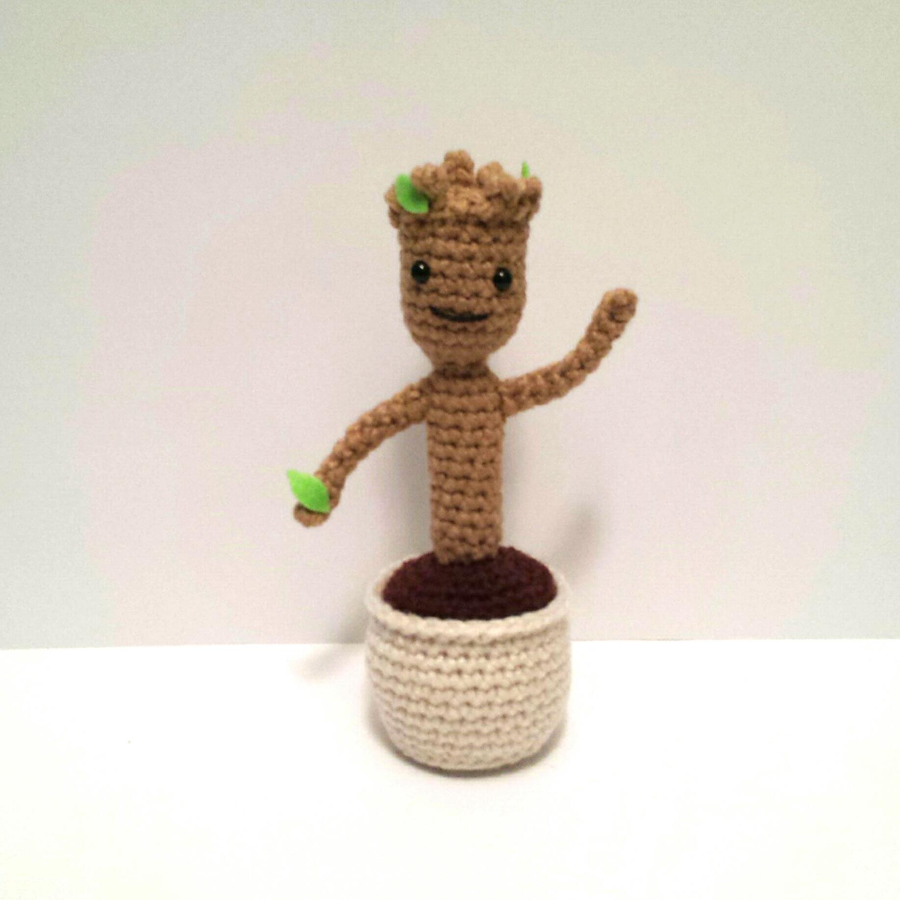 Amigurumi Patterns Groot : Baby Groot Amigurumi Pattern K Hook Creations