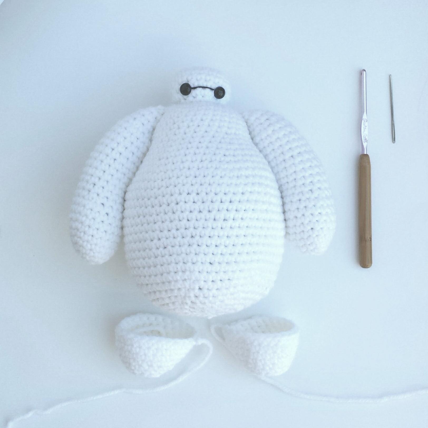 Crochet Amigurumi Baymax Pattern : Baymax Amigurumi Pattern K Hook Creations