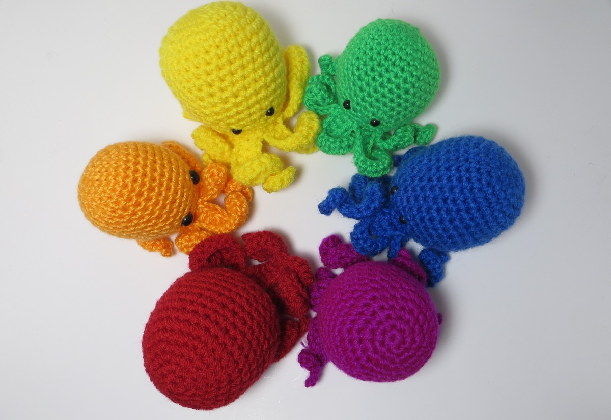 No-Sew Tiny Octopus Amigurumi Pattern K Hook Creations